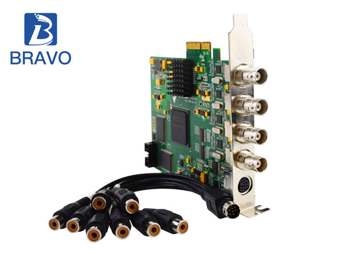4 Channel A / V Audio Video Capture Card Series CVBS With Windows And Linux OS System